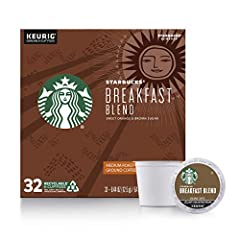 Our Breakfast Blend is a medium-roasted coffee with a bright, crisp and vibrant flavor Medium-roasted coffees are smooth and balanced with rich, approachable flavors Starbucks K-Cup pods are designed for use with the Keurig Single Cup Brewing System ...