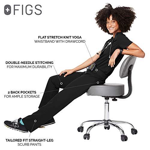 FIGS Livingston Scrub Pants for Women – Black, M