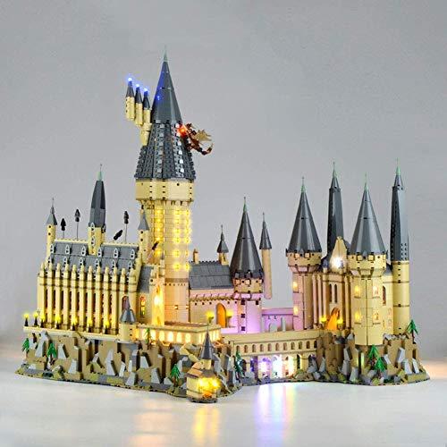 CXD Compatibles Juego De Luces De La Decoración del Castillo De Hogwarts El Diseño Nuevo En La Oscuridad No Deslumbrante Instalación Fácil Y Conveniente, 1