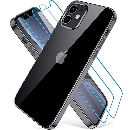Wiselead Funda para iPhone 12 Mini, Carcasa para iPhone 12 Mini - 5.4 Pulgada Negro