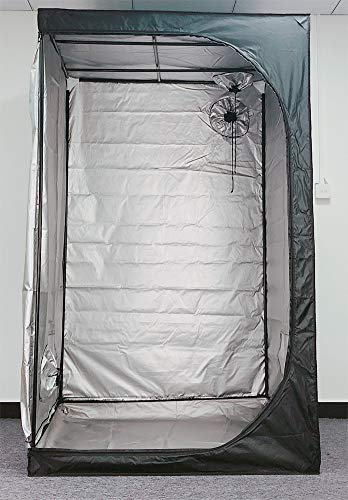 HORTIPOTS Grow Tent 48''x48''x79'', Low-Costed 4x4 Grow Tent Sliver Coating 48 x 48, Herb Dryer Tent Suitable for 3 feet Herb Drying Rack 28x28 Herb Drying Square Rack