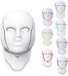 Schoonheid PDT Foton Huidverjonging Gezichts- en nekmasker LED-fotontherapie 7-kleurenlichtbehandeling Anti-veroudering Ac...