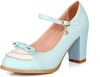 getmorebeauty Women's Fashion Chunky Pumps Dress Shoes Sexy High Heel Wedding Shoes
