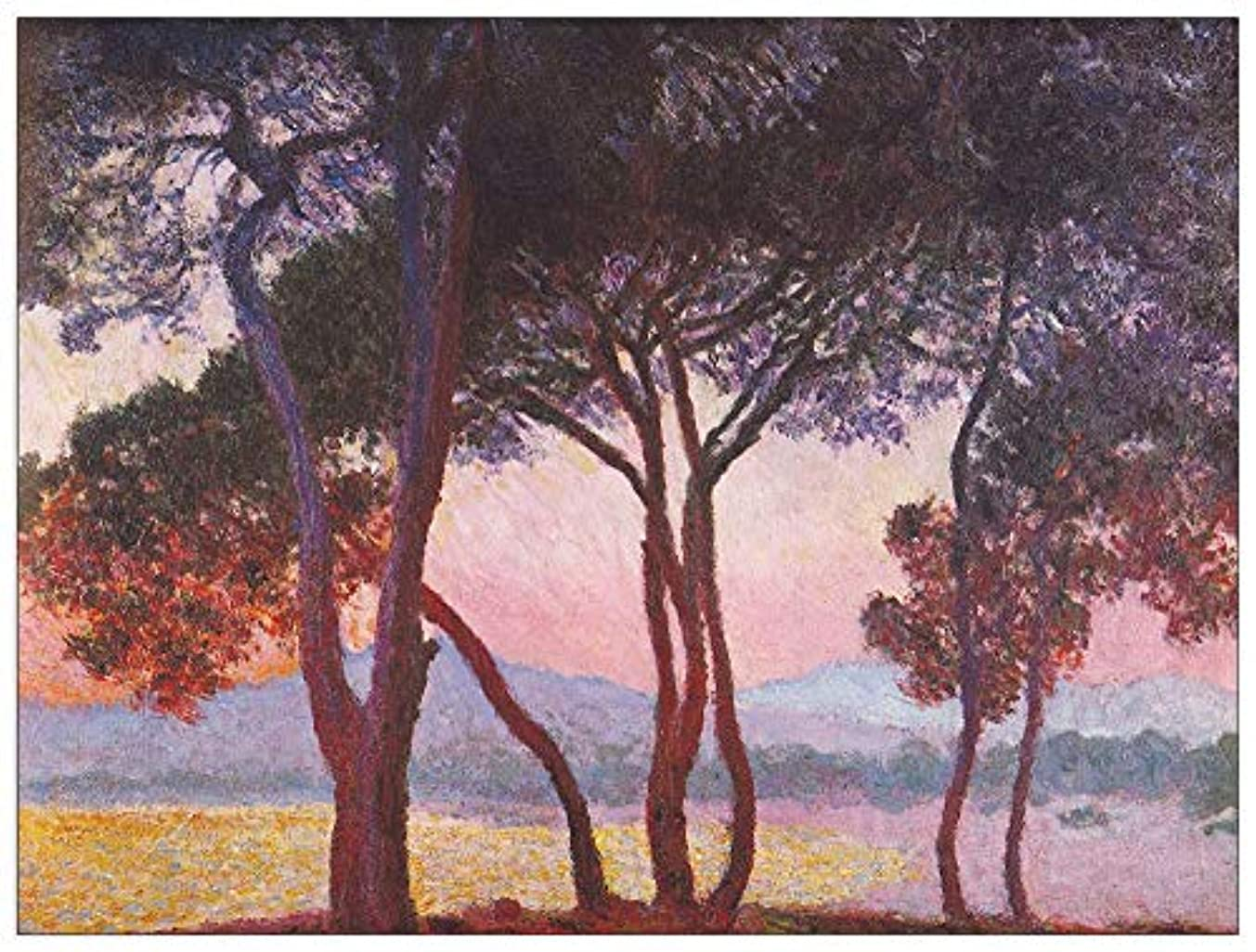 ArtPlaza TW91801 Monet Claude - Juan les Pins Decorative Panel 51x39.5 Inch Multicolored