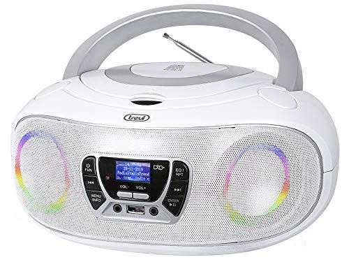 Trevi CMP 583 DAB Stereo Portatile con Ricevitore Digitale di Onde DAB   DAB + e FM con RDS, Display Alfanumerico ad Alta Leggibilità, Lettore CD, Mp3, USB, AUX-IN, Presa Cuffia, Bianco