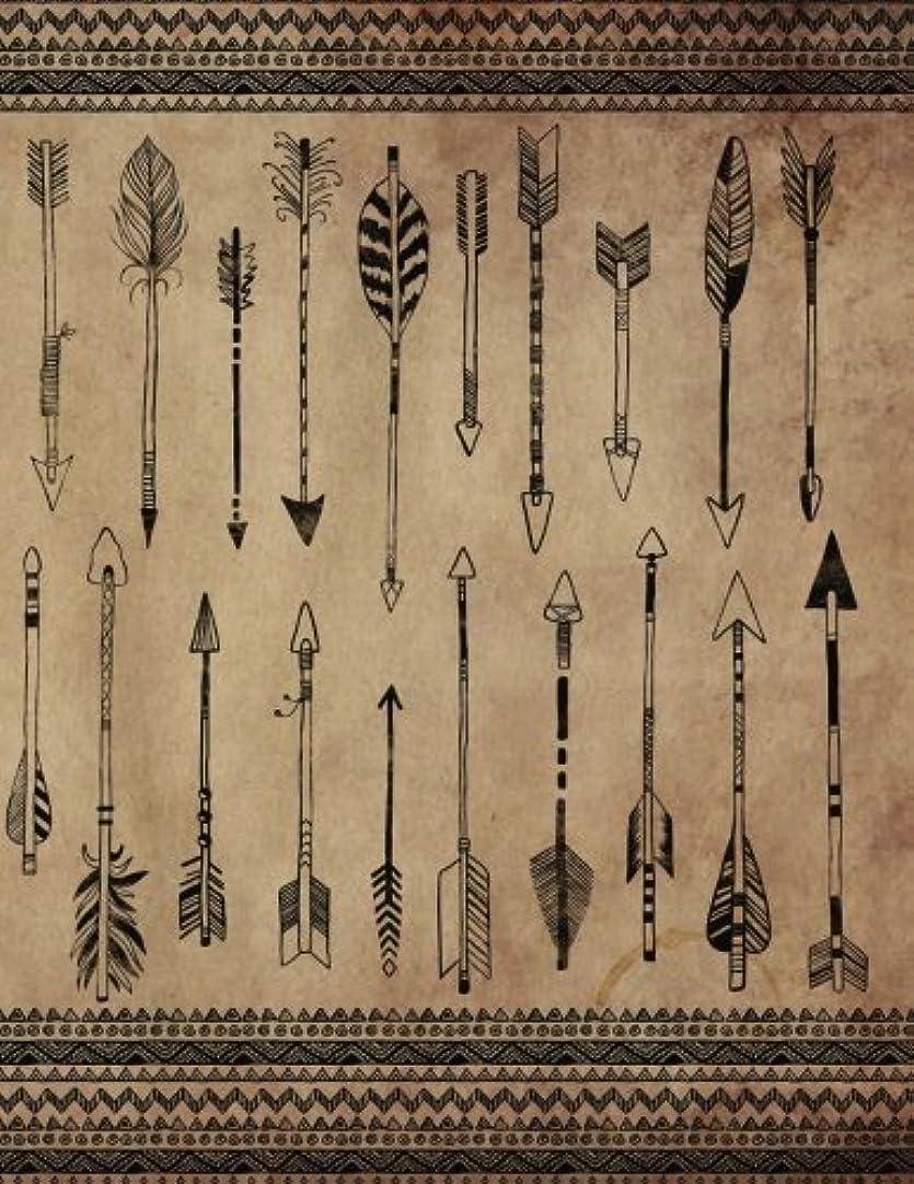 エレベーター持続する背が高いFollow Your Path Notebook: (8.5 x 11 Large)(Lined) Blank Composition Notebook Journal Organizer Planner Sketchbook Gratitude Diary Boho Arrows Tribal Borders Aged Paper