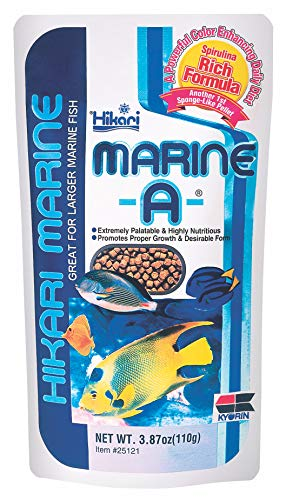 Hikari Marine-A Pellets Fish Food for Larger Marine Fish, 3.87 oz (110g)