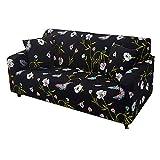 Csheng Cubre Sofas Fundas para sofás Sofá Cubierta Klippan Cubierta de sofá Sofás Cubre Sillón de la Cubierta Elástico Cubierta del sofá 90-140,Black
