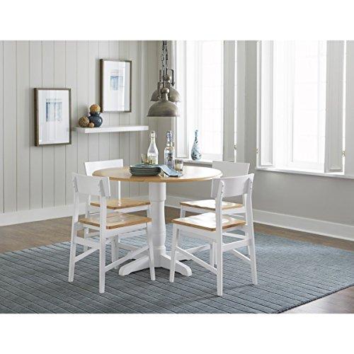 Progressive Furniture Christy Dining Table, Light Oak/White