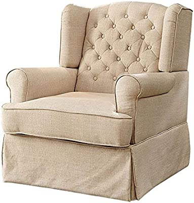 Phenomenal Amazon Com Furniture Of America Elmer Swivel Glider Rocker Caraccident5 Cool Chair Designs And Ideas Caraccident5Info