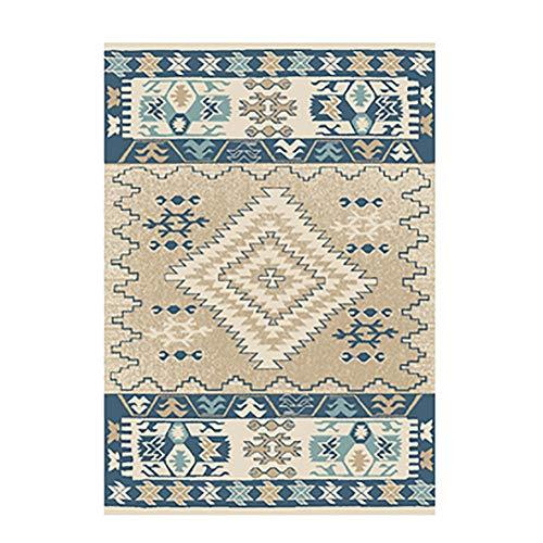 Printed Area Rug, Retro Runner Rug Anti-Slip Chic Floor Carpet Rectangular Washable Multicolor for Bedroom Living Room-e 79x118inch(200x300cm)