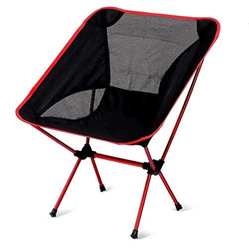 Silla plegable ligero y compacto plegable Mochila sillas de camping silla plegable portátil for la playa al aire libre Pesca Trekking Asiento de picnic Viajes-azul oscuro acampar al aire libre de la c