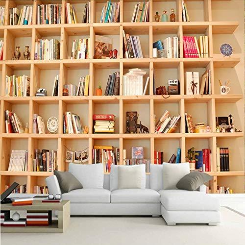 Wandbilder Moderne WanddekoPhoto Wallpaper 3D Bookshelf Mural Living Room Study Background Wall PaintingEco-Friendly Mural Wall Paper Home Decor
