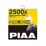 PIAA ヘッドランプ/フォグランプ用 ハロゲンバルブ H7 2500K ソーラーイエロー 車検対応 【雨・霧・雪に見やすい】 2個入 12V 60/55W(130/120W相当) 安心のメーカー保証1年付 HY101