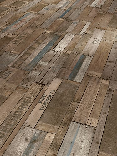 Parador Klick Laminat Bodenbelag Trendtime 1 Globetrotter urban nature Stabdiele Rustikalstruktur Fuge 2,03m² hochwertige Holzoptik dunkel braun/grau, 8 mm, einfache Verlegung