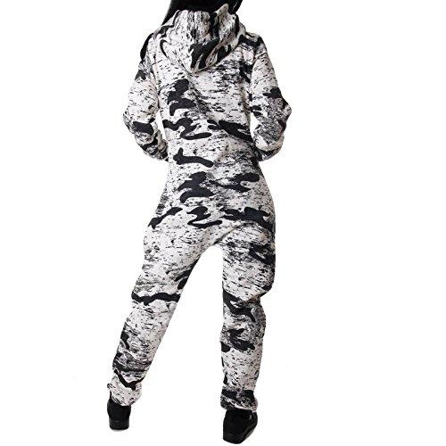 Crazy Age Jumpsuit Army Camouflage Neue Tarnfarben Batik CA 2820 (Schwarz/weiß) - 3