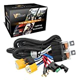 Partsam 1Set H4 Headlight Relay Harness Kit for 7x6 5x7 H6054 Headlights Heat Ceramic Wiring Harness Compatible with Pickup Headlights 88-95, Tacoma 95-97 Fix Dual Ground Problem
