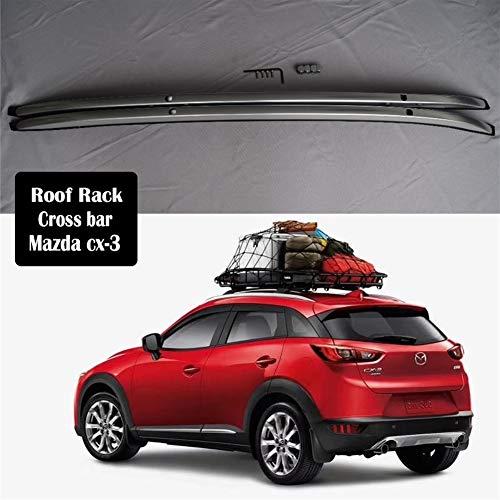 JPVGIA Aleación de Aluminio Barra de Techo for Mazda CX3 CX3 2016-2020 rieles de la Barra de Equipaje Bares Tapa de la Barra Cruzada en Rack Cajas Rail (Color : Roof Rack)