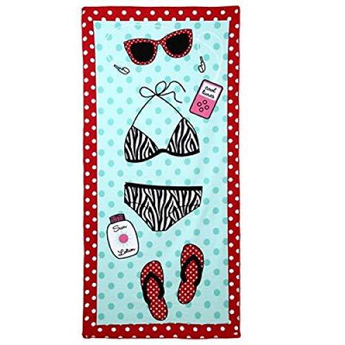 Sun Lounger Beach Handdoek, Hot Yoga Handdoek, Zwemhanddoeken voor volwassenen 0 Bikini Groen