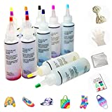 MMTX Tie-Dye Kit Tinte para Ropa,12 colores Pinturas Textiles con Guantes Desechables, Bandas de...