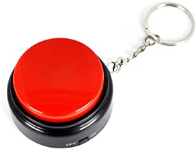 Neutral Sound Button with Keychain-Voice Recording Button Small Easy Button Funny Gift with Good Sound Quality
