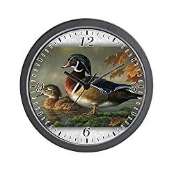 BCWAYGOD Wood Ducks Wall Clock Nice for Gift or Office Home Unique Decorative Clock Wall Decor 10in with Frame