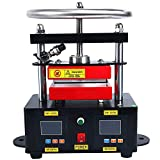 YaeTek Heat Press Machine Hand Crank Duel Heated Plates Manual Heat Transfer - Dual Element Heating Plates 110V 2.4'X4.7' (6X12CM)