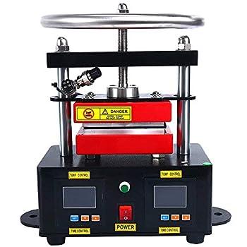 YaeTek Heat Press Machine Hand Crank Duel Heated Plates Manual Heat Transfer - Dual Element Heating Plates 110V 2.4 X4.7   6X12CM