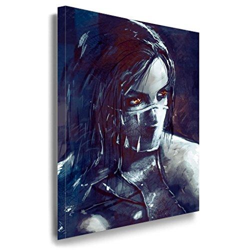 Mortal Kombat Leinwandbild / LaraArt Bilder / Mehrfarbig + Kunstdruck g48 Wandbild 60 x 40 cm