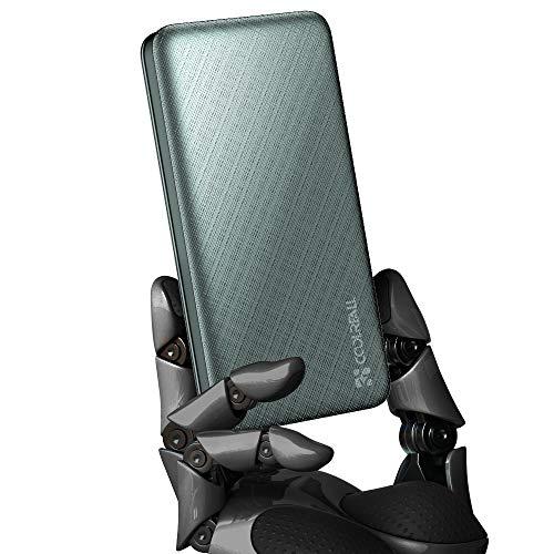 CoolReall Power Bank 10000mAh mit Zwei Hochgeschwindigkeitsausgängen und -eingängen, tragbares Ultra-Slim-Ladegerät zum schnellen Aufladen, kompatibel mit Verschiedene Handys, iPads, Laptops usw.Grün