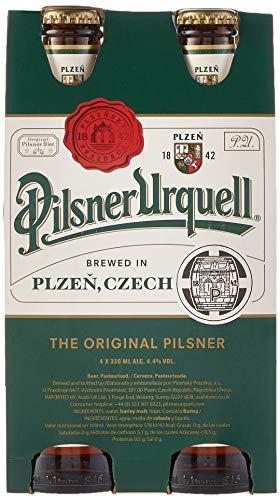 Pilsner Urquell Cerveza - Paquete de 4 x 330 ml - Total: 1320 ml
