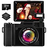 Digital Camera 2.7K 30 Mega Pixels Full HD Vlogging Camera with Flip Screen