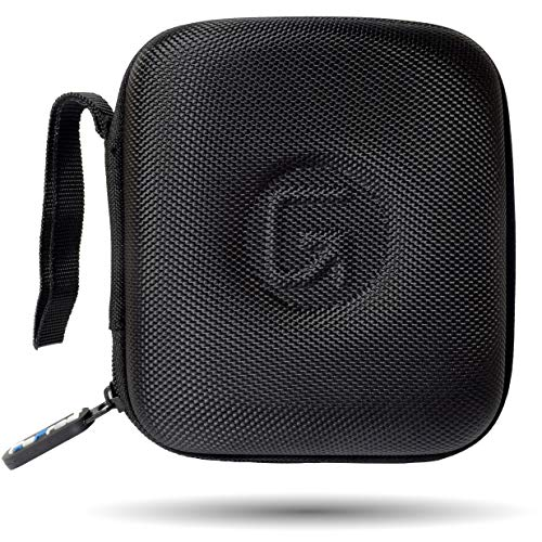 GoFree Carry Case for JBL Go,Compatible with SoundLink Micro, Compatible with Amazon Echo Dot (1/2/3) Boat Stone and Other Small Bluetooth Speakers [Rigid Shock Proof] – Ballistic Nylon (Black)