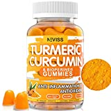 Turmeric Curcumin with Bioperine Supplement 13500mg - Natural Anti-inflammatory & Antioxidant,Supports Joint Pain Relief - Vegan Turmeric Curcumin Gummies with Black Pepper, Non-GMO - 60 Sweets