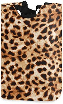 ALAZA Large Laundry Hamper Basket Leopard Cheetah Print Animal Laundry Bag Collapsible Oxford product image