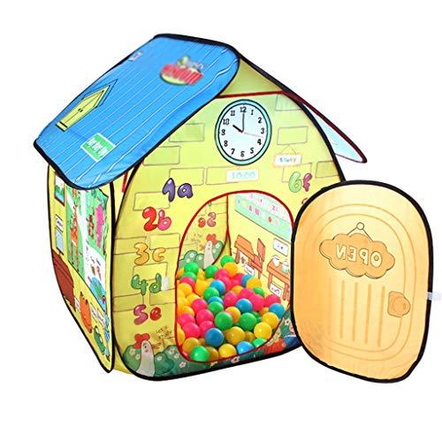 Z-w-dong Plegable La Tienda, Tienda de Rompecabezas para niños Juego de Interior Casa Habitación de Juguete Dormitorio de la Piscina de la Bola del Océano Casa de Almacenamiento de Juguetes 80 * 80 *