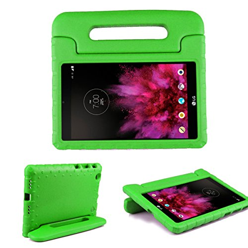 SIMPLEWAY Case for LG G Pad X 8.0 Kids, Only Fit AT&T V520 / T-Mobile V521 Tablet, Carry Handle Child Stand Holder Shockproof Protective Cover Case Compatible with LG 8 Inch G Pad, Green