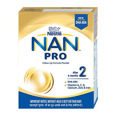 Nestlé NAN PRO 2 Follow-Up Formula-Powder (After 6 months), Stage 2- 400g Bag-In-Box Pack