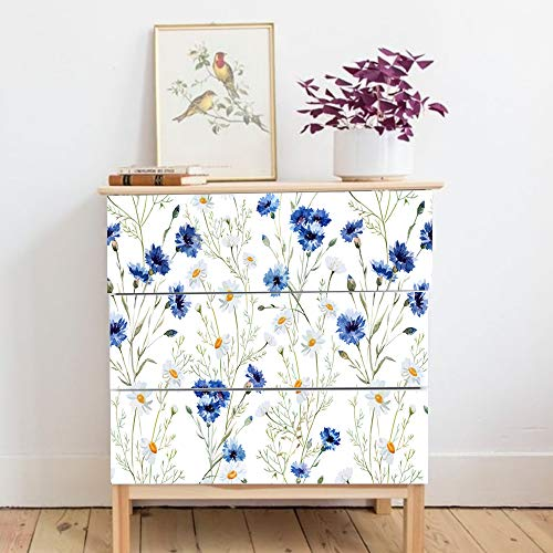 Alwayspon Self-Adhesive Dresser Sticker, Peel and Stick Furniture Stickers/Decals, Removable Furniture Skin (009, MALM)…