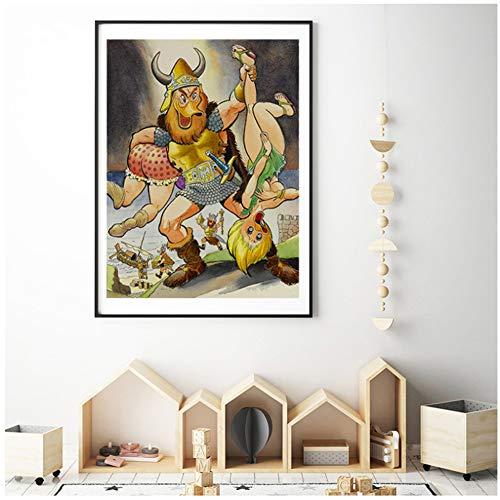 dubdubd Póster De La Versión Porno De Scrooges Mcduckes Carl Barks Pinturas De Scrooge En Lienzo Arte Decorativo Imágenes De Pared Decoración del Hogar -20X28 In Sin Marco