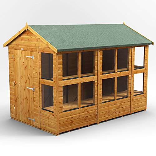 POWER | 10x6 Apex Potting Shed | 10 x 6 Wooden Garden Greenhouse Sheds | Super Fast Delivery