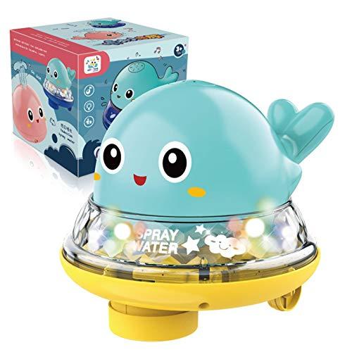 LOVOICE Juguete de baño para bebés, juguete de agua, juguete de piscina para bebés, juguete de baño con luz y música, para niños pequeños de 1, 2 o 3 años