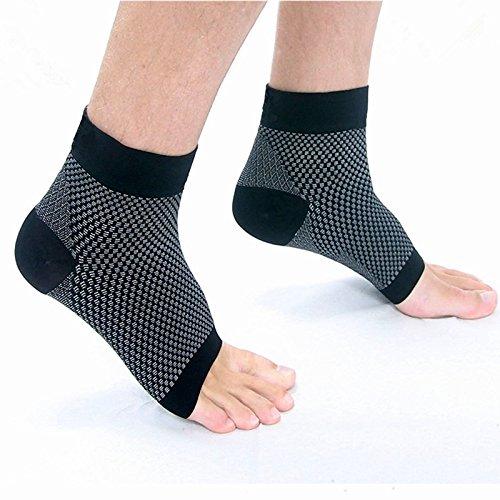 S3Sole Anti-Müdigkeit Knöchelbandage, Fasziitis, Kompression, Knöchelbandage, Plantar, Knöchelsocken, Kompression, super elastisch und bequem, ohne Zehen