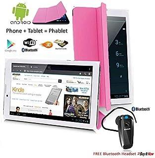 Indigi® 7 pulgadas 4G LTE Smartphone Tablet PC Android 9.0 Pie w/QuadCore, 2GB RAM/16GB ROM + Bluetooth Bundle