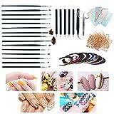 Acrylic Nail Brush, AIFAIFA 43pcs Nail Art Kit with Acrylic Nail Design Brushes Dotting Pe...