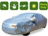 Various Sizes of Heavy Duty Car Covers (Seden-Up to 210'-Silver-Aluminum-Poly)