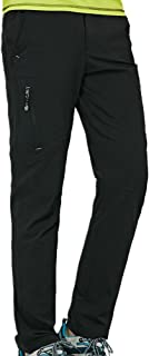 Thin and Elastic Waterproof Pants Hiking Pants for Outdoor Sport Men's Black Quick Dry Pants Cloth (Size : XXL)