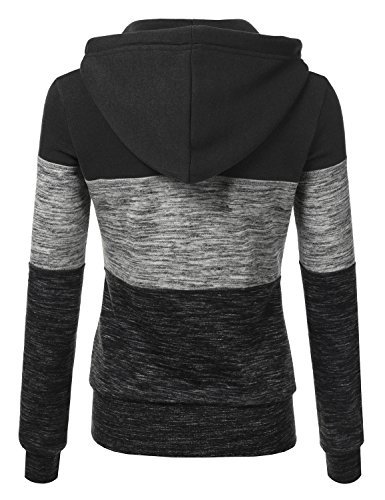 Fashion Shopping Doublju Lightweight Thin Zip-Up Hoodie Jacket for Women with Plus Size