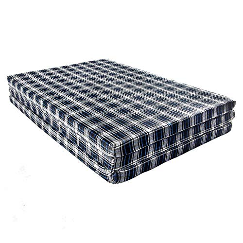 CHILLI BILLI Bed Folding Pure EPE Foam Mattress for Travel, Picnic,Room (Mattresses 2 inch Single Bed)(72x35x2) (3-Times FOLD)