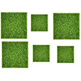 Fauge 6 Piezas de CéSped Artificial, CéSped en Miniatura, DecoracióN de JardíN, Suelo Artificial 15X15Cm / 30X30Cm